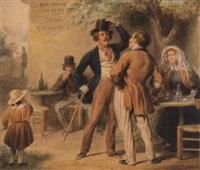streit unter männern vor der schenke by edmé jean pigal
