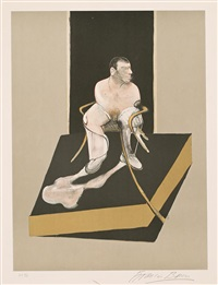 triptych: study for a portrait of john edwards (panel central) by francis bacon