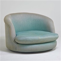 oversized tilt swivel lounge chair by milo baughman