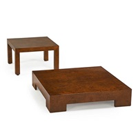 coffee table and side table by milo baughman