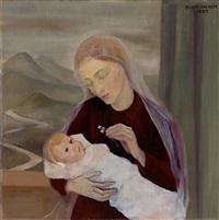madonna mit kind und glockenblumen by gustl (auguste) meyer
