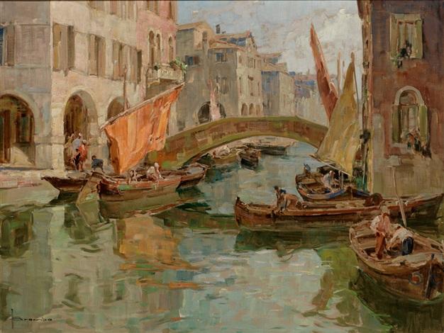 canal vene chioggia venezia by angelo brombo