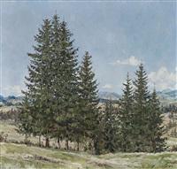 allgäuer landschaft im frühling by josef lipp