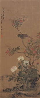 birds and flowers by zhou yigui