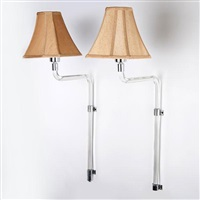 swing-arm wall sconces (pair) by peter hamburger