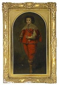 porträtt föreställande kung karl ii av england by jacob oost the elder