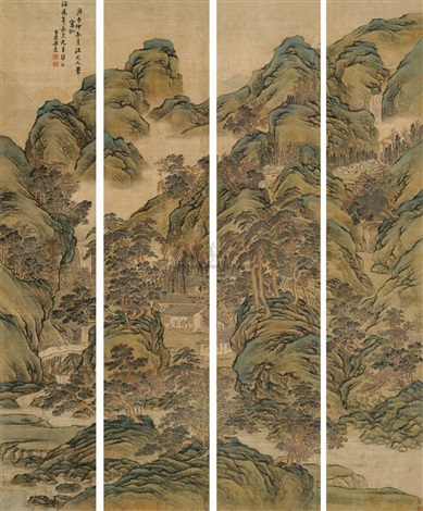 landscape 3 others set of 4 by liang ji