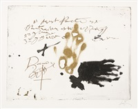from llull-tapies (sold with 262b, c, d&e; set of 5) by antoni tàpies