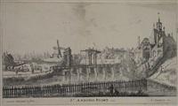 st. antonis poort, 1636 (from nieuwe en eygentlycke afbeeldinghe der stadt-poorten van amsterdam) by reinier nooms