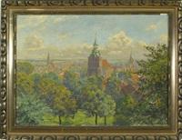blick auf lüneburg von kalkberg aus gesehen by albert fothe
