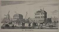 verscheijden schepen en gesichten van amsterdam. derde deel (series of 12) by reinier nooms