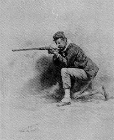 soldier taking aim by carlo chiostri