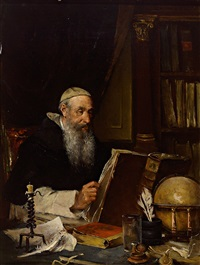 pater prior in der klosterbibliothek by franz reichardt
