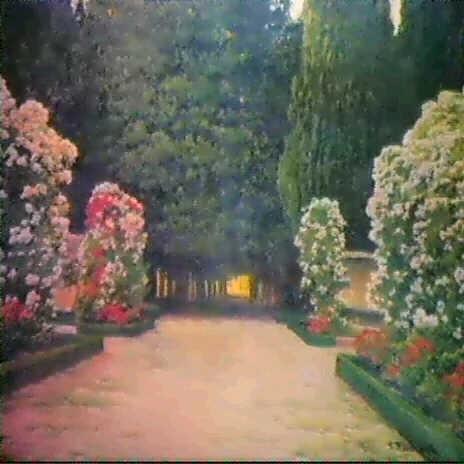 Rosaleda y cipreses de los jardines de aranjuez by for Los jardines de aranjuez