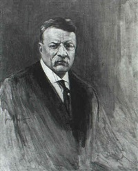 portrait of teddy roosevelt by warren w. lodder