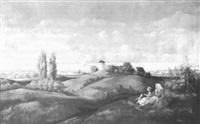 landschaft mit rastenden bauern by kurt seifert