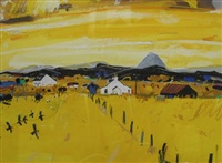 yellow sky, aberdeenshire by hamish macdonald
