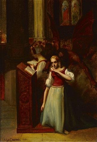 maguerite à l'église by alexandre cabanel