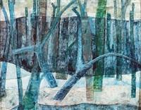 bäume im schnee by luis gurschler