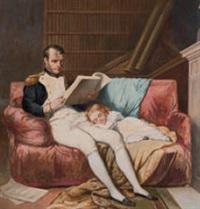 napoleon bonaparte mit seiner schlafenden tochter by charles henri joseph gabet