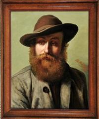 portrait eines bärtigen mannes in tracht by peter baumgartner
