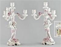 leuchter (pair) by von schierholz porzellanmanufaktur