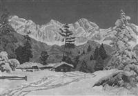 winterliche gebirgslandschaft by a. arnegger