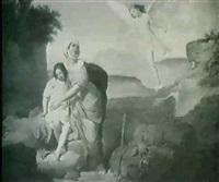 hagar and ismael by francesco coghetti