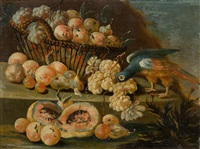 pair of works: still life with fruits and parrots by anonymous-italian-neapolitan (18)