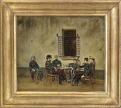 aperitifimmen bland franska officierare by carlos auerbach