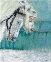 chevaux sur le pont by véronique barbier