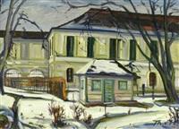 schloss nymphenburg im winter by theodor von hoetzendorff