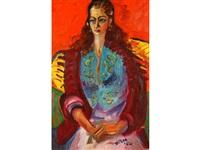 spanish romany, sven's daughter greta, wearing bright clothes by sven berlin