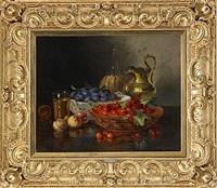 stilleben med plommon och körsbär by a. rauter-redtwitz