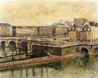 vue de la seine pont neuf by arthur fillon