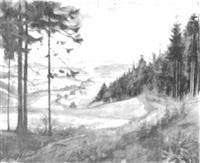 thüringer wald mit blick auf pöritz by hans weberpals