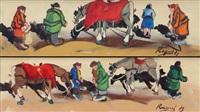 a cavallo (+ a cavallo; 2 works) by basso ragni