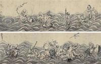 十八应真图卷 by ding yunpeng