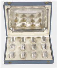 likör set (set of 12 w/tray in box) by tétard frères