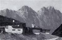 dorf im hochgebirge by rudolf grossmüller