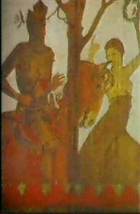 ein ritter wird von seinem edelfraulein mit dem lorbeerkranzbelohnt by edmund wyly (sir) grier