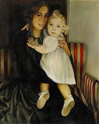 mother and child by lydia dmitrievsky
