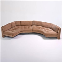 omnibus two-part sectional sofa by vladimir kagan