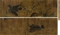 鸳鸯 (mandarin duck) by emperor huizong
