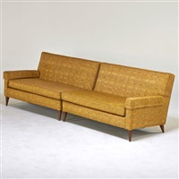 two-piece sofa by paul mccobb