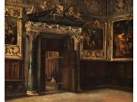 interieur eines saales im dogenpalast zu venedig by paul burmeister