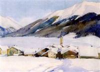 zuoz im winter by giovanni müller