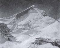 blick auf die verschneite alpspitze by richard klein