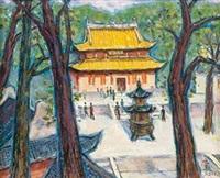 林间古寺 by xu junxuan