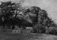 landschaft mit bäumen by richard voltz